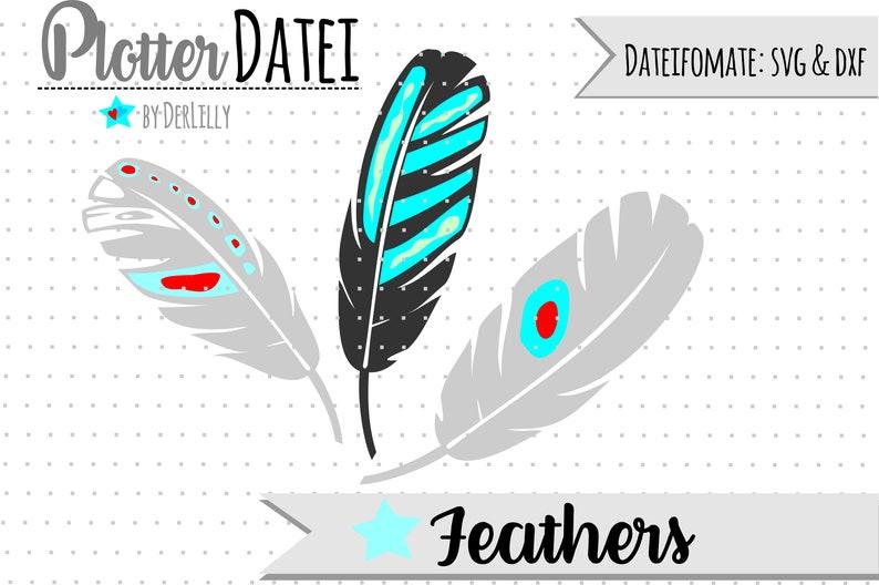 044 Plottervorlage feathers image 0
