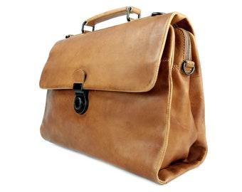 c8fb871d0707 manbefair Business Bag Odin leather camel