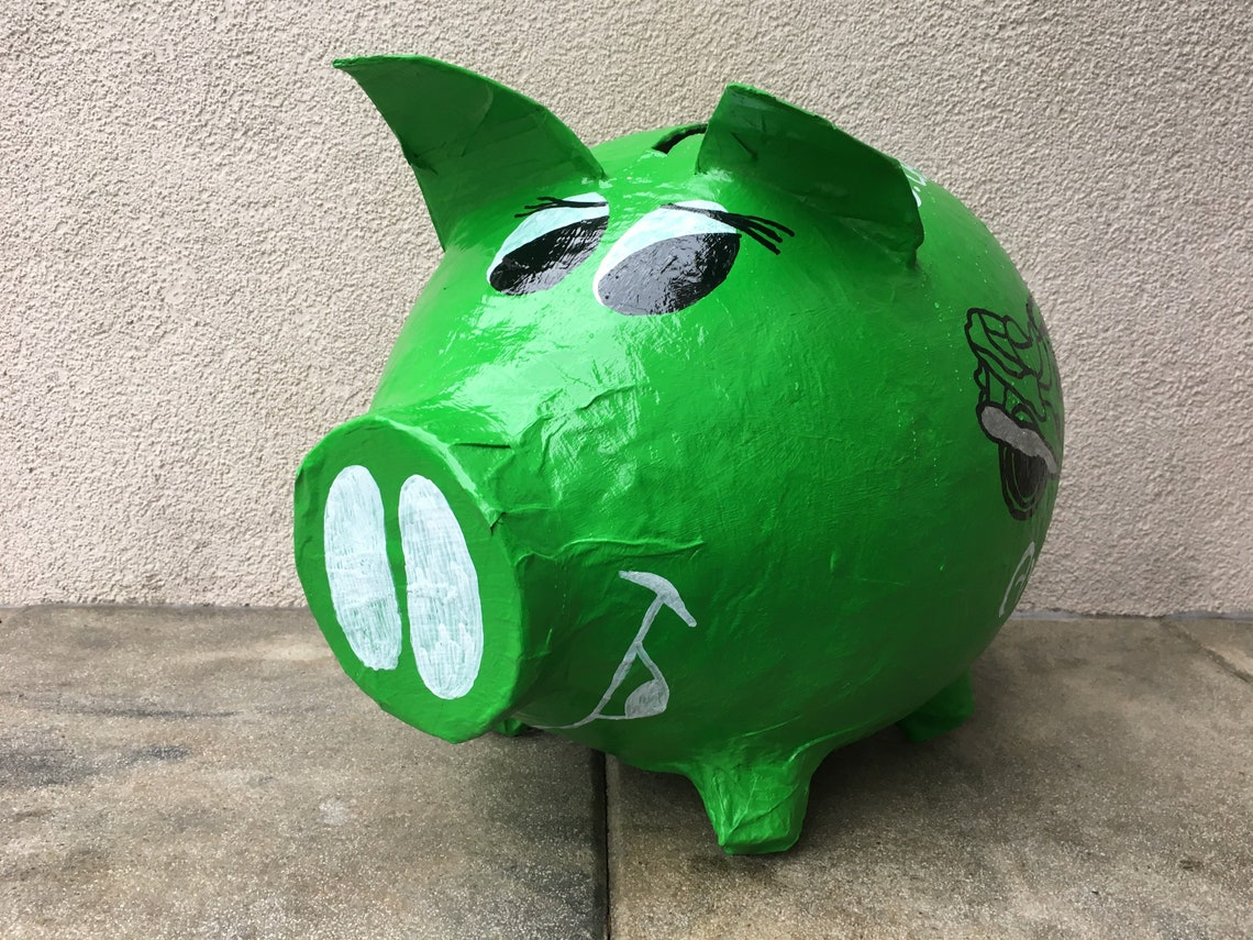 piggy bank xxl 50th birthday money gift card box