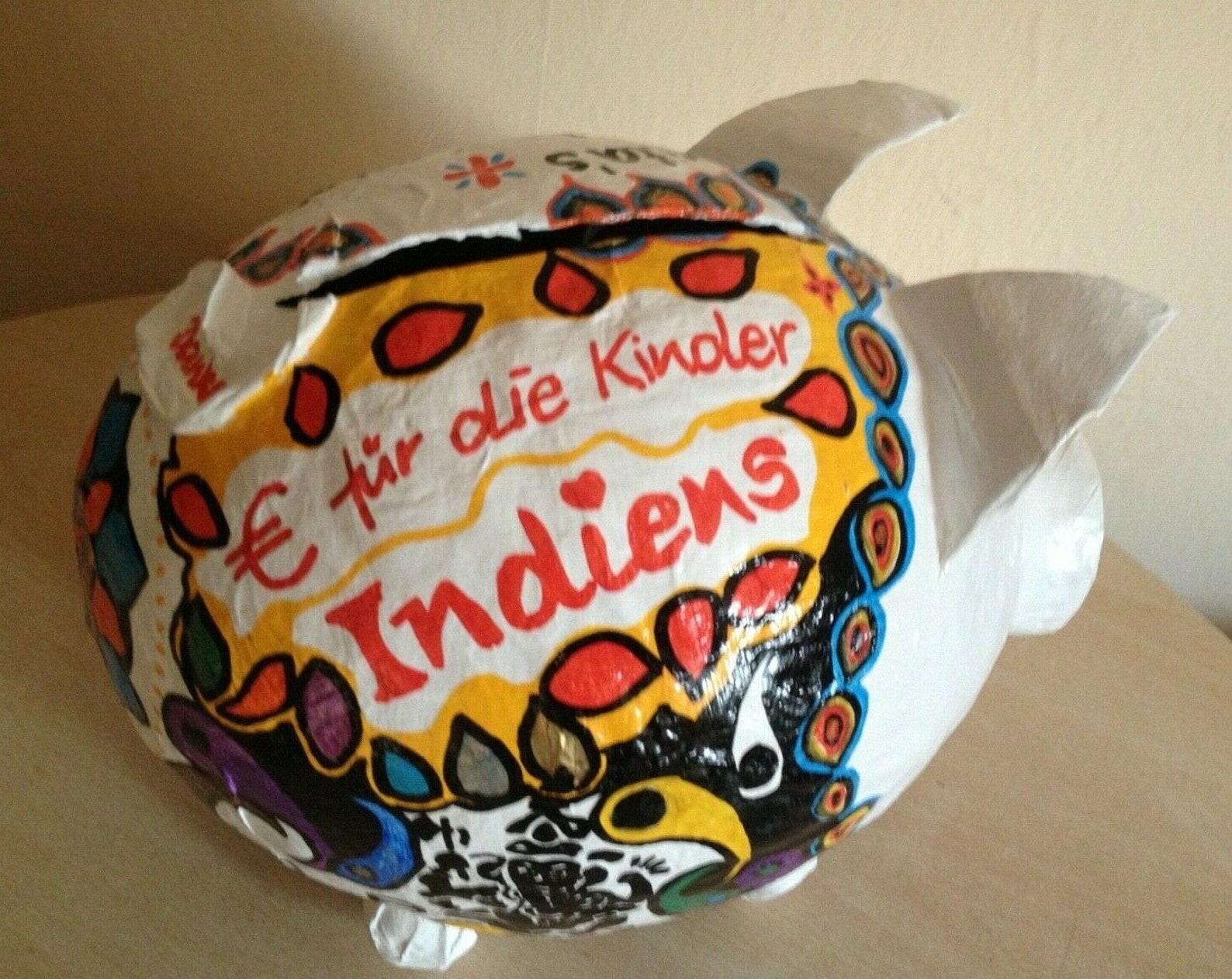 piggy bank xxl indian sow india gift birthday money gift
