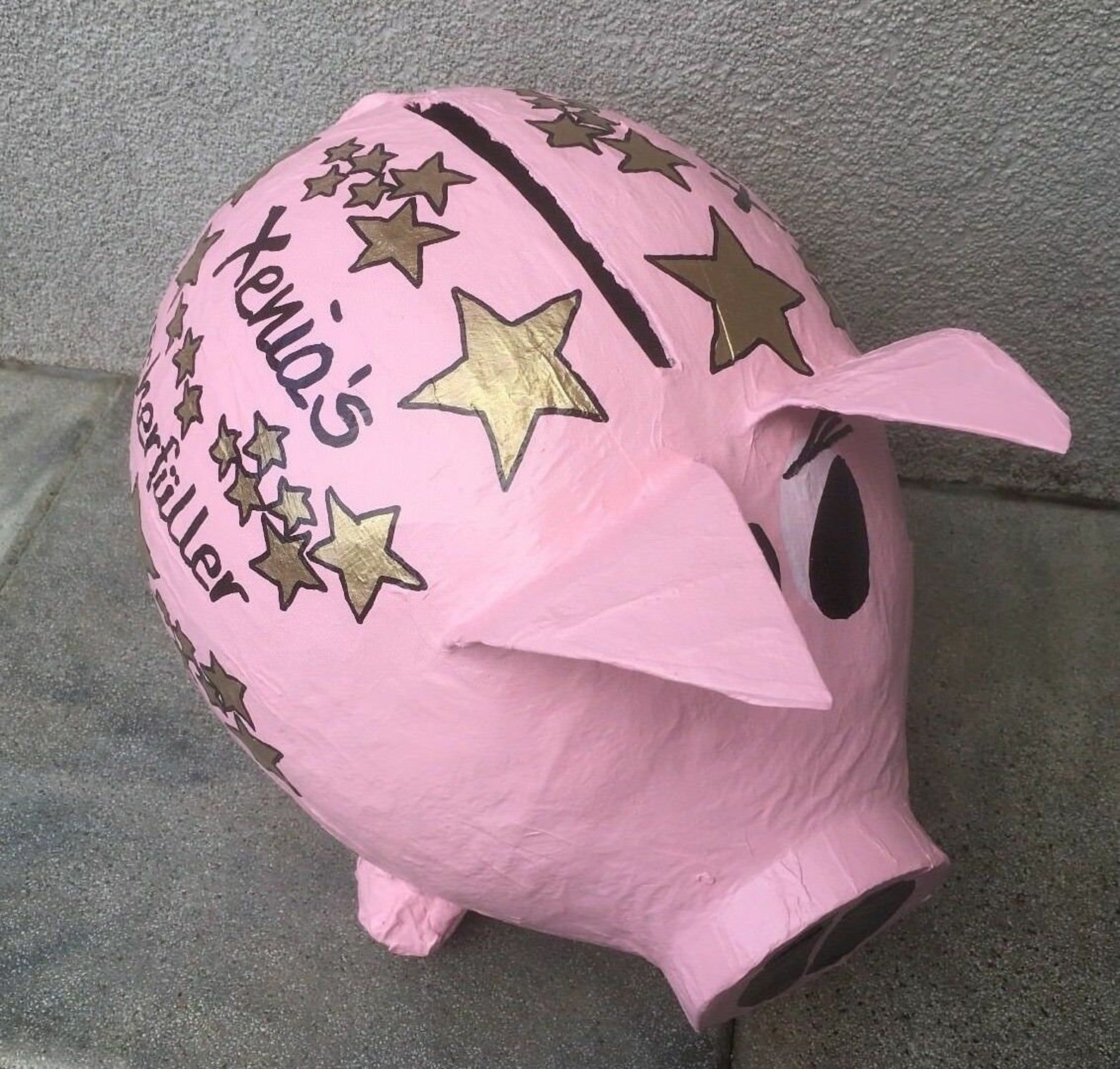 piggy bank xxl wishful pig money gift 40th birthday card