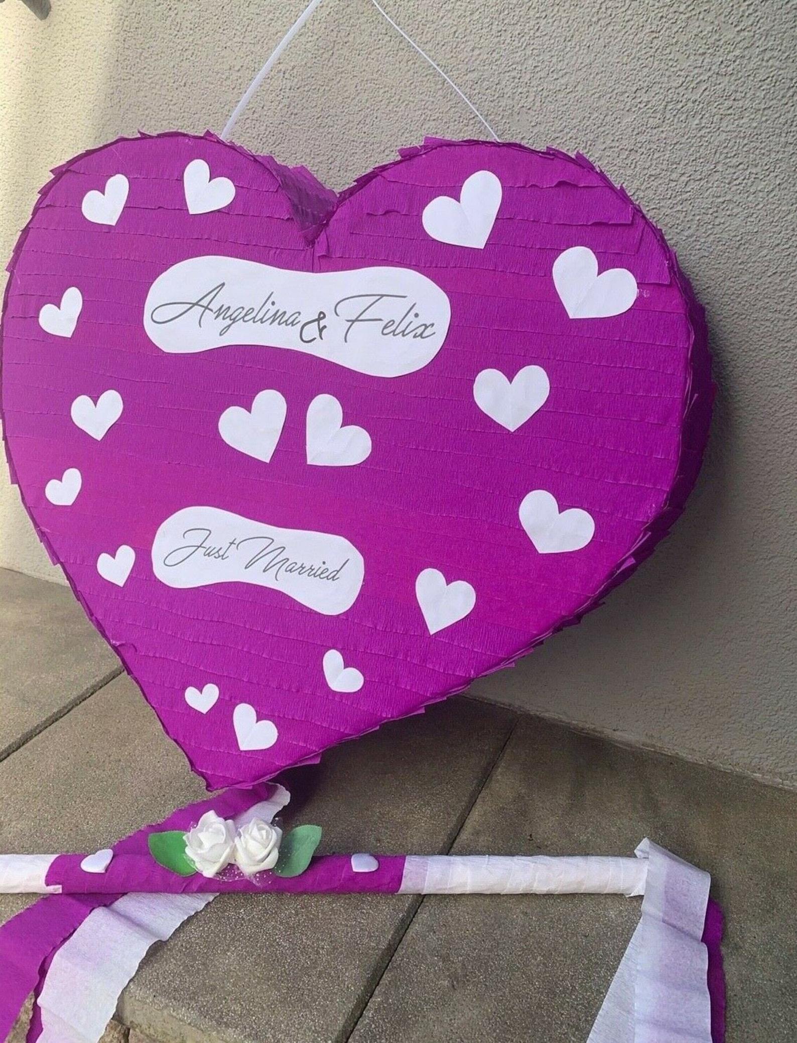 pinata heart xxl wedding birthday money gift 60 x 55 cm