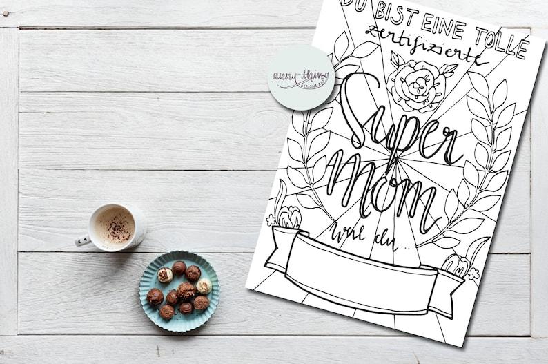 Download Ausmalbild Zum Muttertag Zum Ausfüllen Super Mom