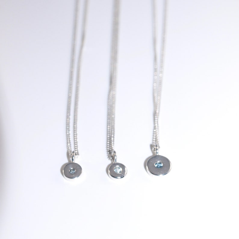 2.5mm diameter Topaz London with necklace Very British