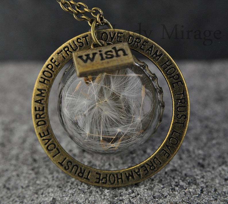 Make a wish   Real Dandelion Necklace  image 0