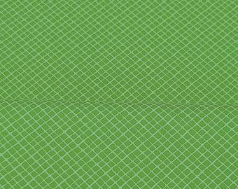 Baumwolle Rauten grün