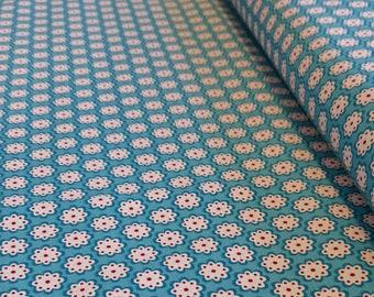 Baumwollstoff Julia Blumen blau
