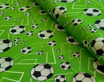 Baumwollstoff  Fußball