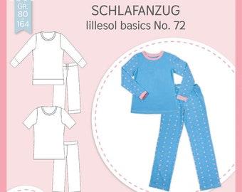 Schnittmuster Schlafanzug lillesol basics No. 72 lillesol&pelle