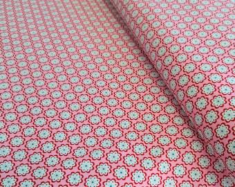 Baumwollstoff Julia Blumen rosa