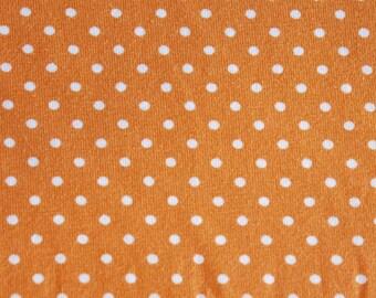 Jersey Stoff orange gepunktet, Verena, Öko Tex 100