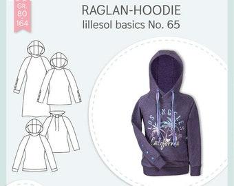Schnittmuster Raglan-Hoodie lillesol basics No. 65 lillesol&pelle