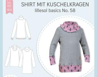 Schnittmuster Shirt mit Kuschelkragen lillesol basics No. 58 lillesol&pelle