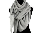 Large wafer-thin Cashmere Triangular, 18 Colors, Knitted, shoulder cloth, Stole, Cloth, Scarf, Wool scarf