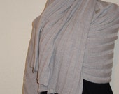 Wide ribbed scarf, shoulder cloth, knitted, merino wool, man, woman,