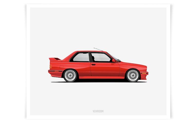 Bmw E30 M3 Print Etsy