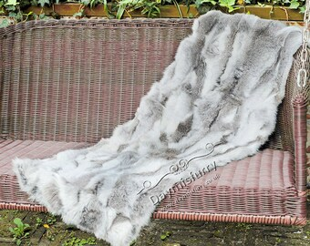 Patchwork Rabbit Fur Rug