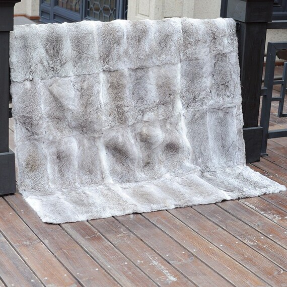 56101bace8 Rabbit Fur Blanket   Fur Throw in Natural Colour