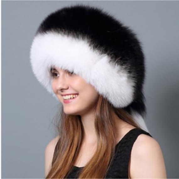 ca82db235f286 Dyed Fox Fur Hat with Rex Rabbit Fur Top