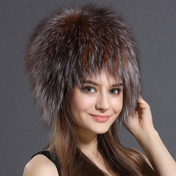 Fox Fur Hat / Fashion Fur Hats, Winter Hat, Real Fur Hat, Women Hat