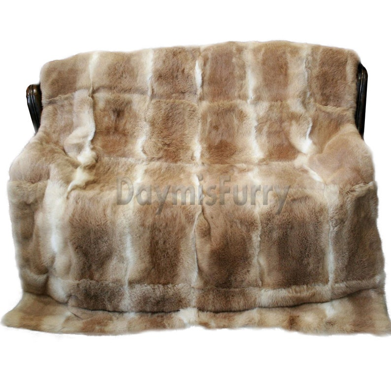 Music Memorabilia Natural Genuine Color Rabbit Fur Skin Pelt Rug Blanket For Home Textile Like Chairs Soft And Light
