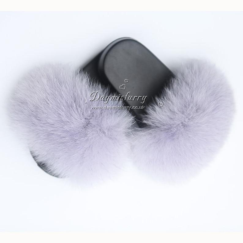 Fox Fur Kid/'s Slipper Light grey