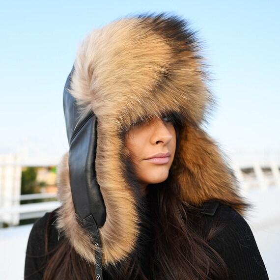 Finn Raccoon Fur Trapper Hat  dd13a68d41b0