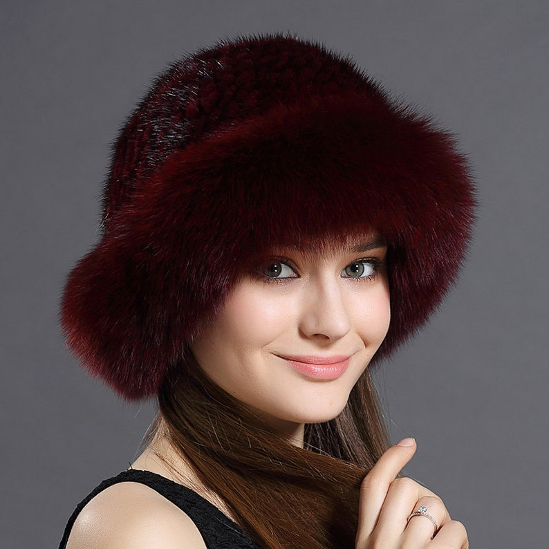 67a663f36 Fox Fur Roller Hat with Mink Top
