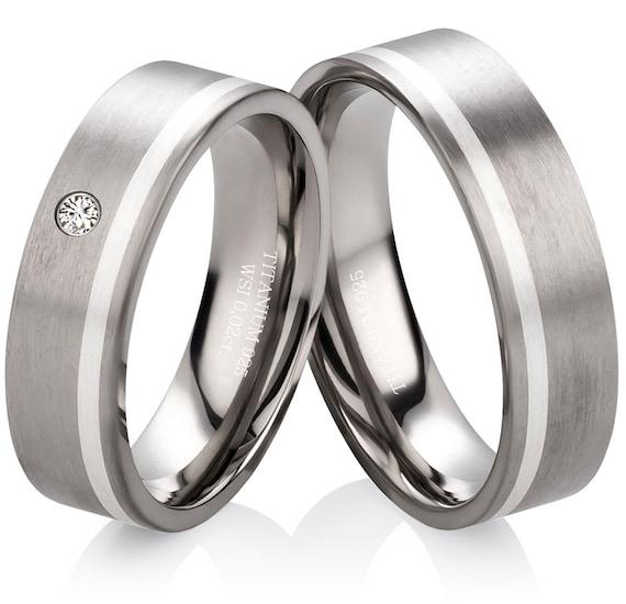 Verlobungsringe Hochzeitsringe Eheringe Trauringe Aus Titan Etsy