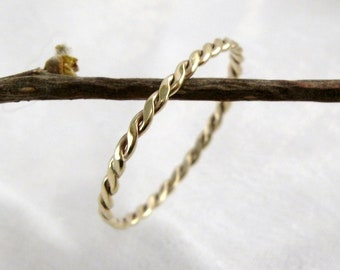 Ring Zart Weissgoldring Kordelring 585 Gold Zusteckring Etsy