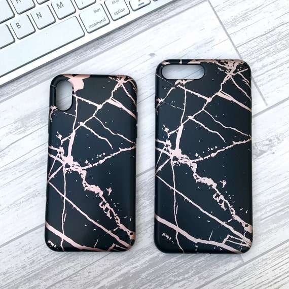 size 40 1400c fd479 Black and Rose Gold Marble Case- Marble Phone Case, iPhone case, iPhone 6  6S 6 PLUS, 7 8 7 PLUS 8 PLUS iPhone X, cute phone case