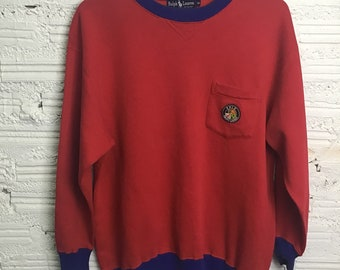 Vtg 90s Polo Ralph Lauren Cookie patch sweater M-L 3af822f18a6