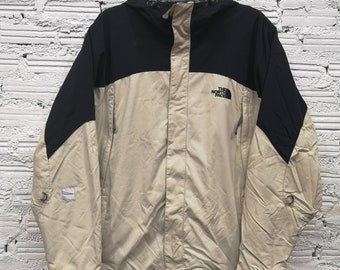 befd918d57 Vintage The North Face TNF Full Zip Hooded Fleece Lined Hyvent Jacket Sz XL