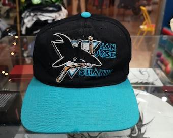 Vintage 1990 s San Jose Sharks Snapback Hat Cap NHL 252090312