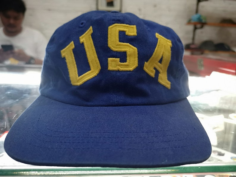 Sport Ralph Vintage Rare 90s Polo Hat Lauren Usa Script Sportsman Cap WD9EIeH2Y