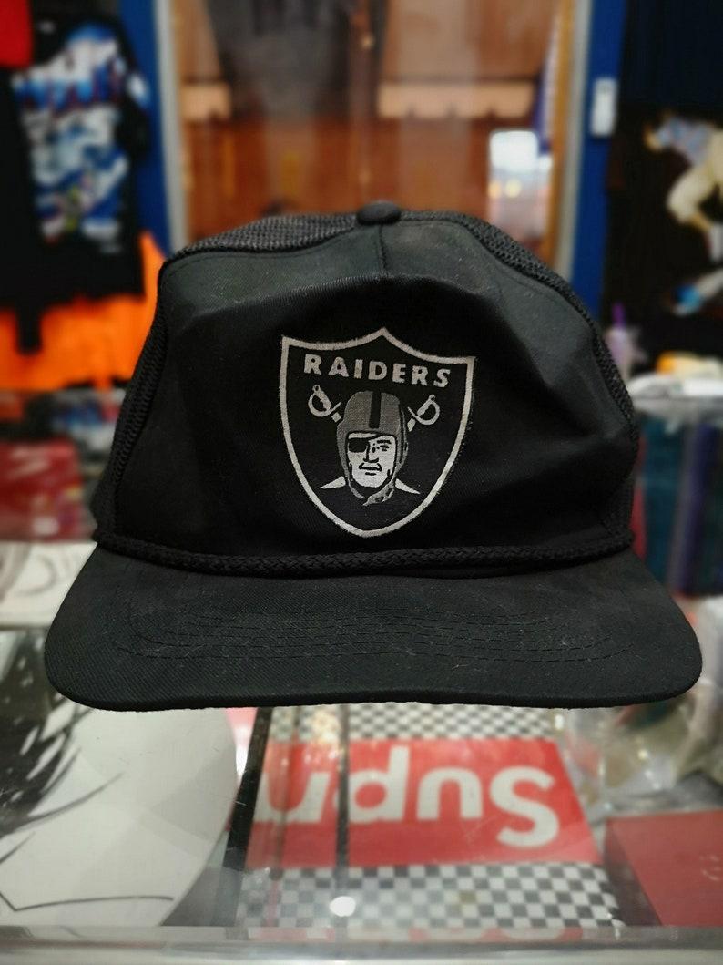 400fc7b6d05e53 Vintage 90s Los angeles raiders Snapback Hat Baseball Cap NFL | Etsy