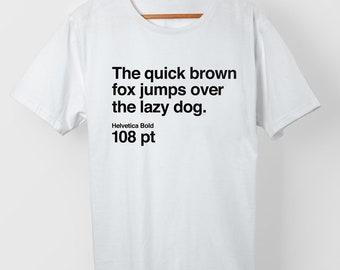 The quick brown fox...-T-shirt