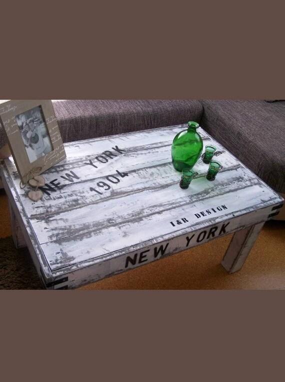 Shabby Couchtisch New York 90x58x43 Andere Grosse Machbar Etsy