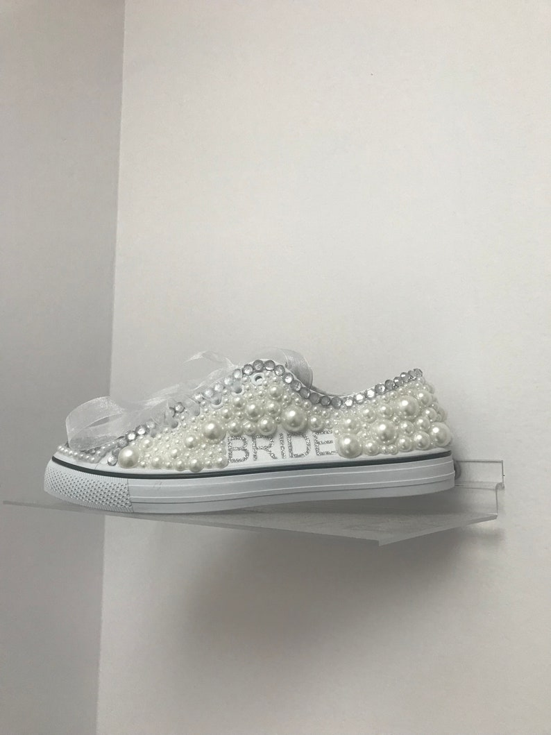 96fdaeb85d772 Wedding Converse - Bling Shoes - Bedazzled Converse - Custom Shoes - Green-  Embellished Shoes - Female Athlete - Glam