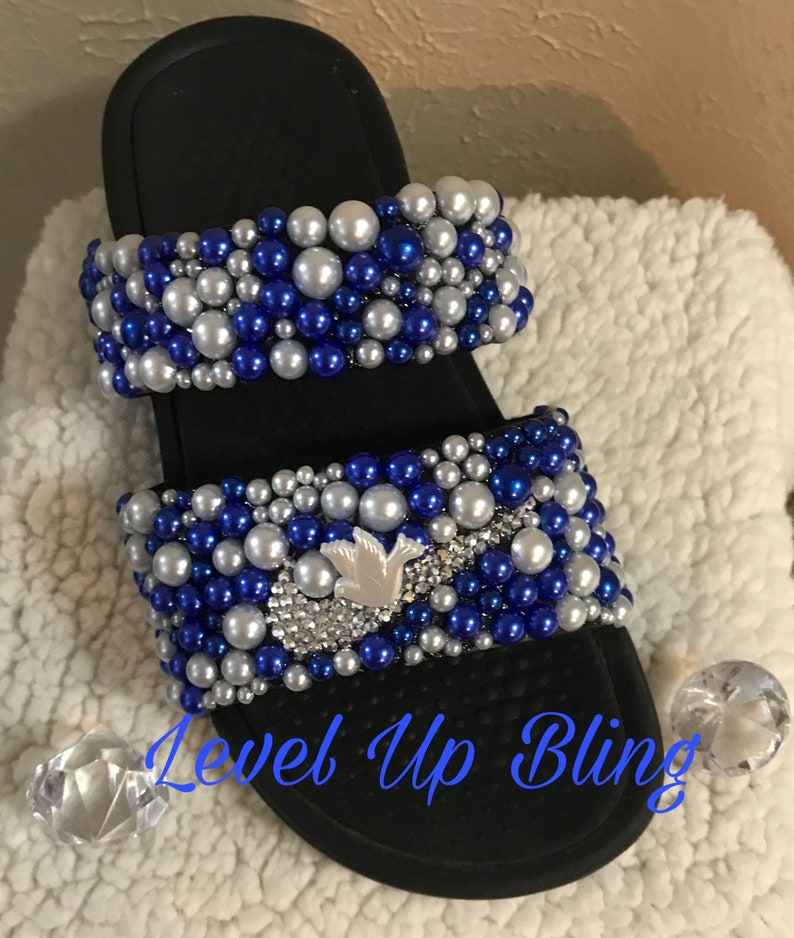 7acdde9289a53 Zeta - Beads - Bling Shoes - Bedazzled Custom Shoes - Doves - Embellished  Shoes - Female Athlete - Glam - Blue
