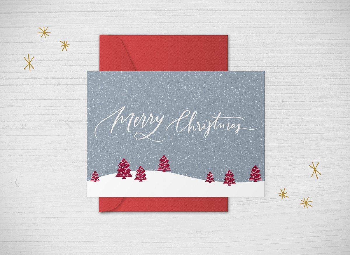 Diy Christmas Card Christmas Invitation Christmas Invite Etsy
