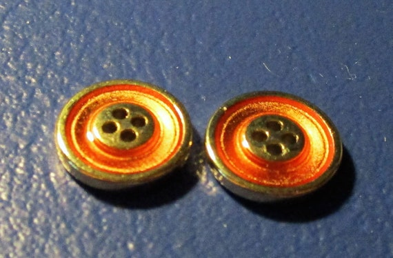Circular Stone Buttons x 10 1.1cm wide