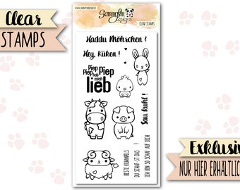 """Clear stamps """"My little Farm"""""""