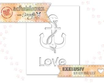 Anchor Love Stencil