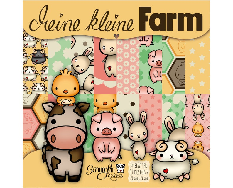 Design paper My little farm 21x21 cm image 0