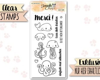 """Clear Stamps """"Marine Animals"""""""