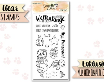 """Clear Stamps """"Sound of the Sea"""""""