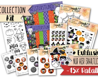 """Collection Kit """"Ghost Hour"""" (with stamp set """"HappyHalloween"""")"""
