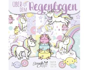 "Design paper ""Above the Rainbow"" 21x21 [cm]"
