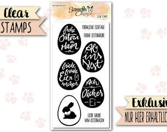 """Clear Stamps """"Easter Egg Greetings"""""""